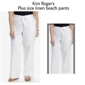 Kim Roger's linen beach pants.  Sz XL